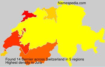 Familiennamen Bernier - Switzerland