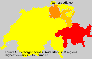 Surname Bersorger in Switzerland
