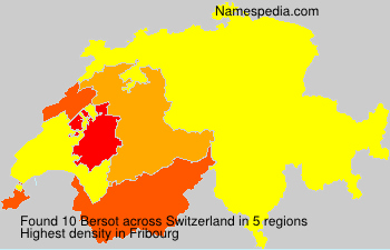 Surname Bersot in Switzerland