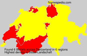 Familiennamen Bertels - Switzerland