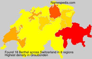 Surname Berthel in Switzerland