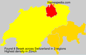 Surname Besek in Switzerland