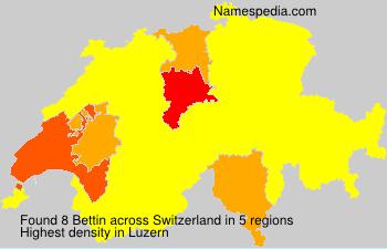 Familiennamen Bettin - Switzerland