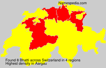 Surname Bhatti in Switzerland