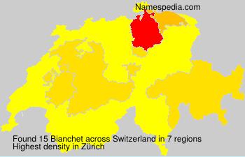 Familiennamen Bianchet - Switzerland