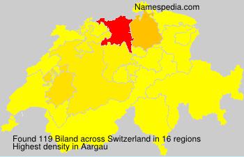 Familiennamen Biland - Switzerland