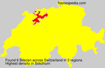 Surname Bilecen in Switzerland