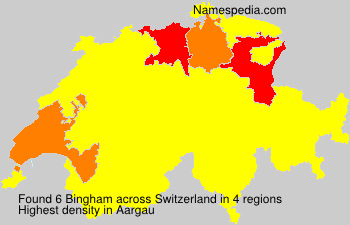 Surname Bingham in Switzerland