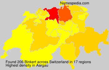 Familiennamen Binkert - Switzerland