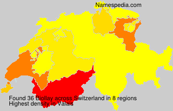 Surname Biollay in Switzerland