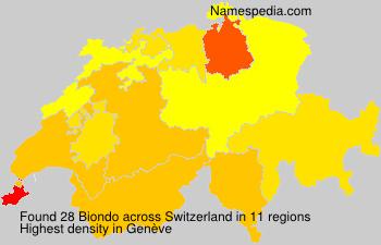 Surname Biondo in Switzerland