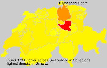 Surname Birchler in Switzerland