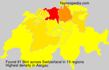 Surname Birri in Switzerland