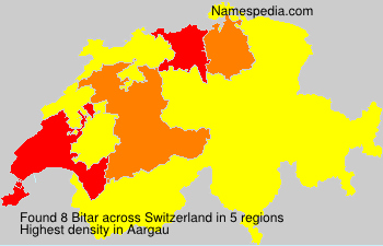 Surname Bitar in Switzerland