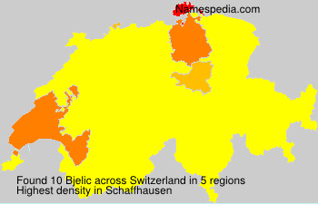 Surname Bjelic in Switzerland