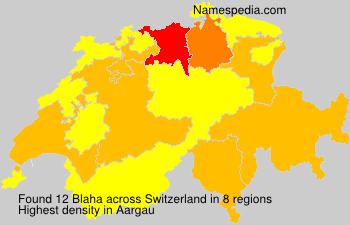 Surname Blaha in Switzerland