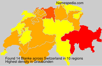 Surname Blanke in Switzerland