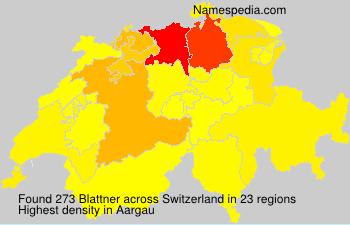 Familiennamen Blattner - Switzerland