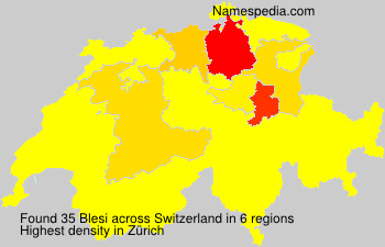 Surname Blesi in Switzerland