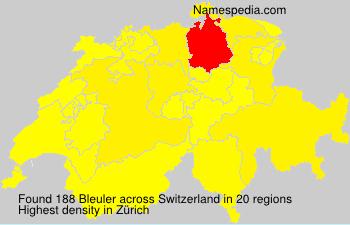 Surname Bleuler in Switzerland