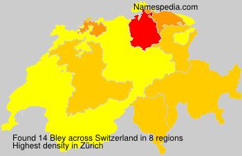 Surname Bley in Switzerland