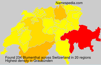 Surname Blumenthal in Switzerland