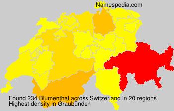 Familiennamen Blumenthal - Switzerland