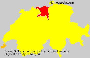 Familiennamen Bohac - Switzerland