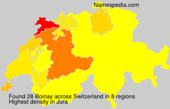 Surname Boinay in Switzerland