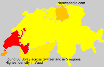 Surname Bolay in Switzerland