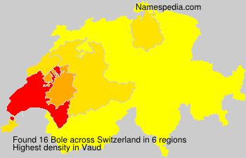 Familiennamen Bole - Switzerland