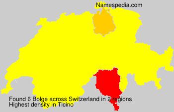 Familiennamen Bolge - Switzerland