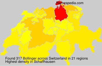 Familiennamen Bollinger - Switzerland