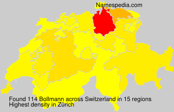 Surname Bollmann in Switzerland