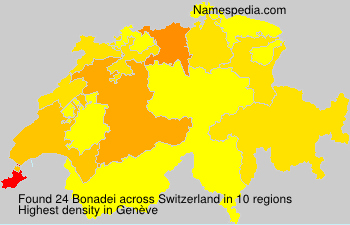 Surname Bonadei in Switzerland
