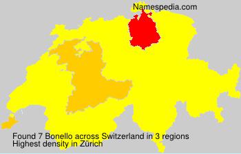 Surname Bonello in Switzerland