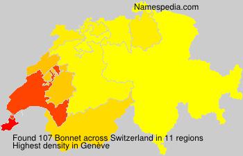 Familiennamen Bonnet - Switzerland