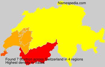 Surname Bontron in Switzerland
