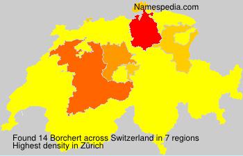 Familiennamen Borchert - Switzerland