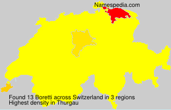 Surname Boretti in Switzerland