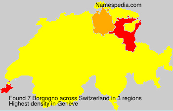 Surname Borgogno in Switzerland