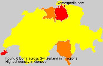 Surname Boria in Switzerland