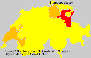Surname Boulter in Switzerland