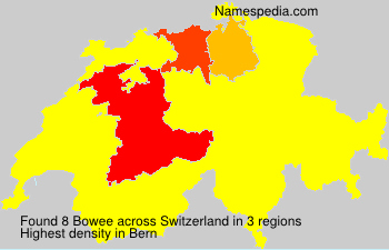 Surname Bowee in Switzerland