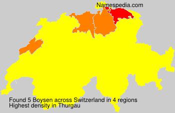 Surname Boysen in Switzerland