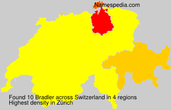 Surname Bradler in Switzerland