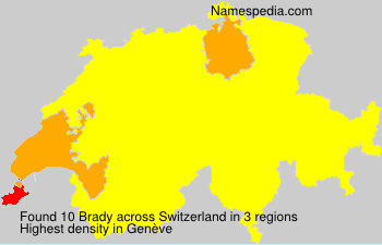 Surname Brady in Switzerland