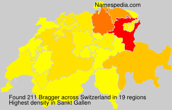 Surname Bragger in Switzerland