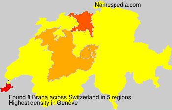 Surname Braha in Switzerland