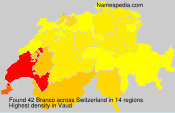 Surname Branco in Switzerland
